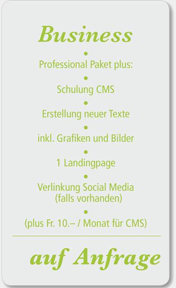Business Webdesign Angebot