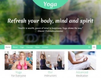 Yoga Template Brachenvorlage