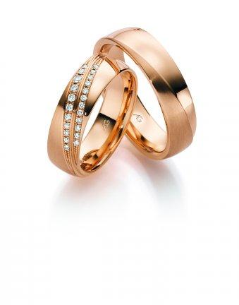 Ringe aus Rotgold mit Brillanten