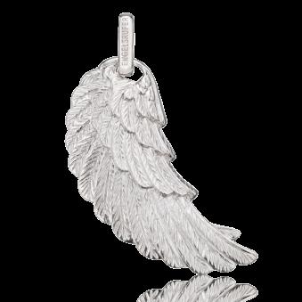Grosser Flügel-Anhänger von Engelsrufer aus rhodiniertem Silber