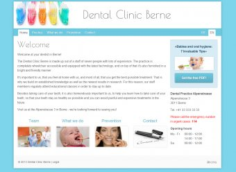 Zahnarzt - Vorlage