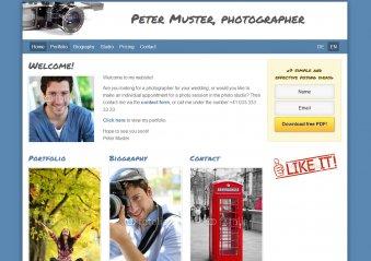 Fotograf - Vorlage