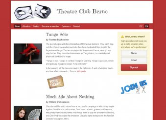 Theatre Club - Template