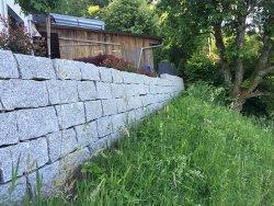 Umgebungsgestaltung Steinmauer