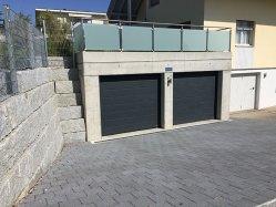 Umgebungsarbeiten Zofingen - Vorplatz Garage mit Verbundsteinen
