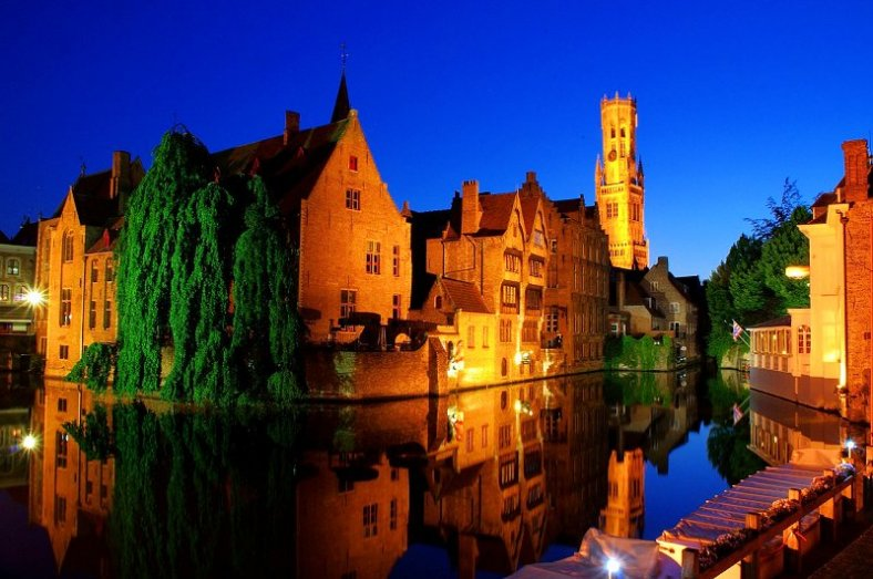 Bruges Old Town by night