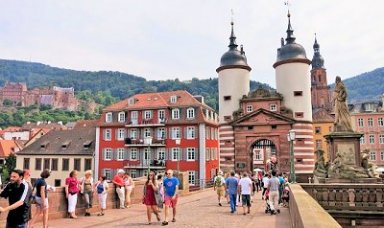 Heidelberg Old Town City Gate & Castle