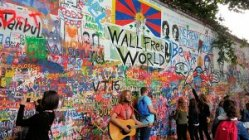 Prague Lennon Wall Graffiti