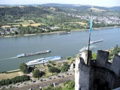 Rhine Valley From The Marksburg Castle