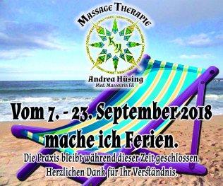 Ferien vom 7. -23. September 2018