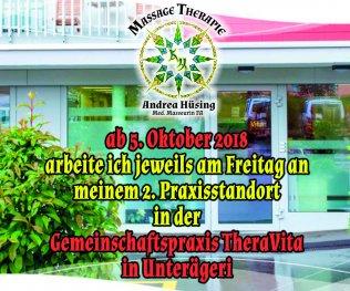 Ab 5.10. 2.Praxisstandort in Unterägeri