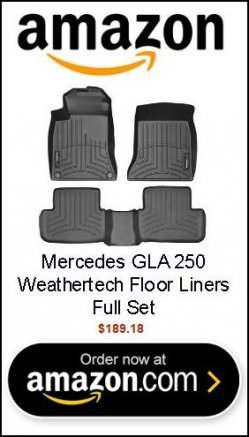 Mercedes GLA 250 - Weathertech Floor Liners - Full Set (Includes 1st and 2nd Row) Black
