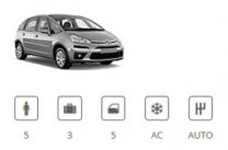 Europe Car Group 5seater Minivan Citroen C4 Picasso or similar