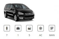 Europe Car Group 7seater Minivan Ford Galaxy or similar