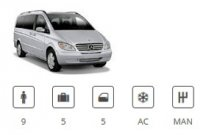 Euro Car Group 9seater Minivan Mercedes Vito Traveliner or similar
