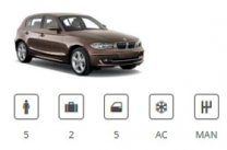 Europe Car Car Group Compact Premium BMW 1 Series or similar