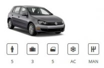 Europacar Car Group Compact VW Golf or similar