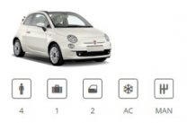 Billigermietwagen Car Group Convertible Fiat 500 Cabriolet or similar
