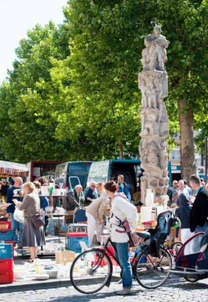 Market Ghent Belgium