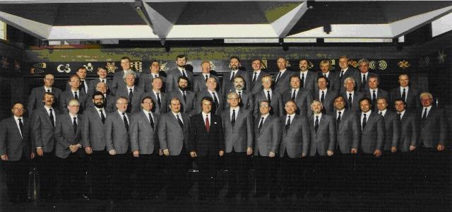 1987: Feier des 100-jährigen Bestehens, Chorleiter  Otto Groll,  Vorsitzender Günter Strätker