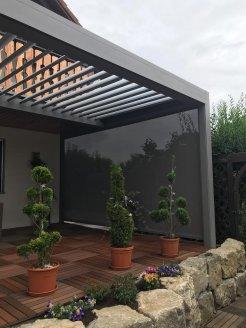 Lamellenüberdachung Terrasse mit optimaler Beschattung