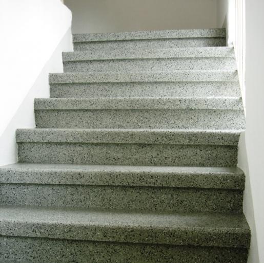 dekorative Beschichtung einer Treppe