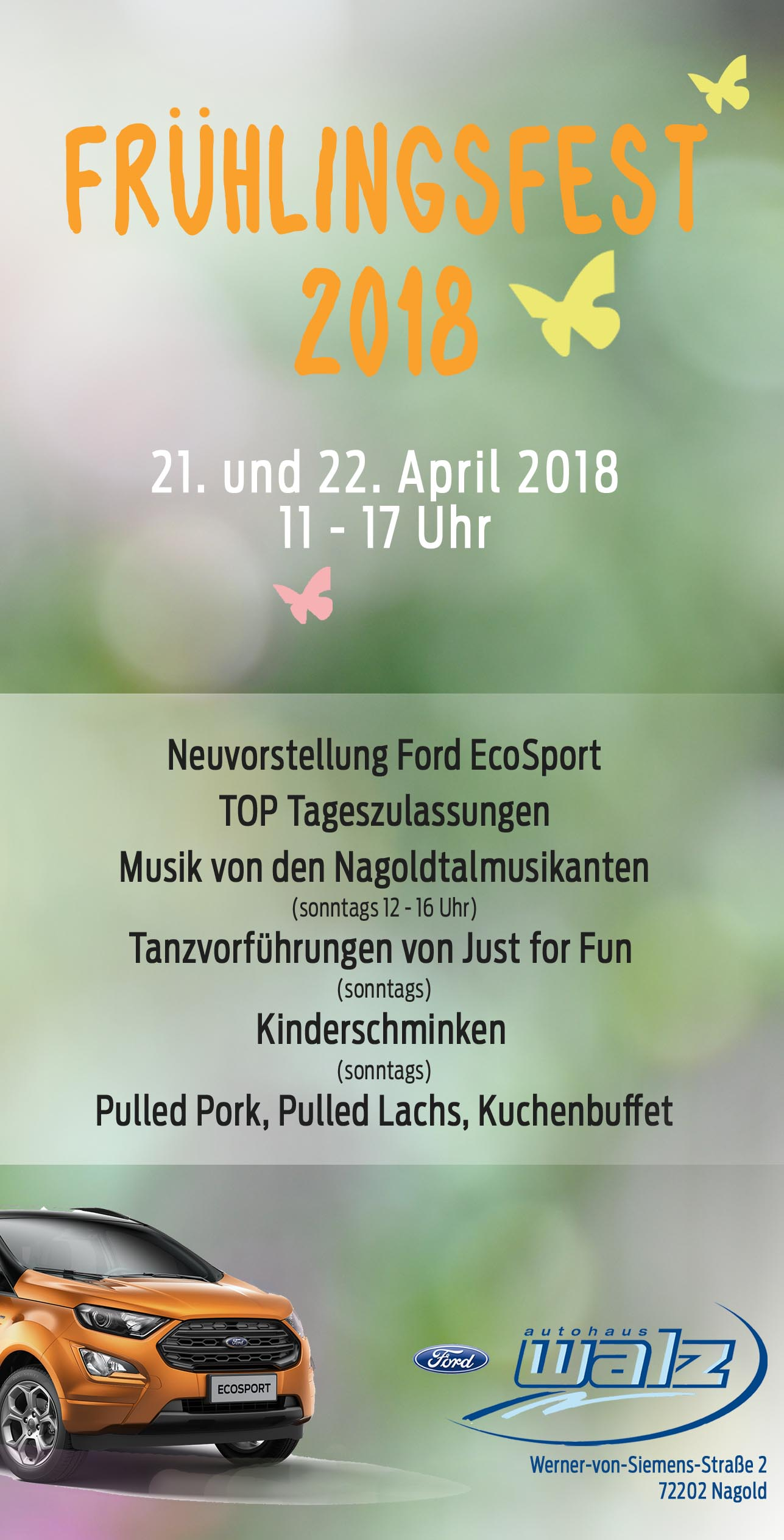 Frühlingsfest Autohaus Walz Nagold 2018