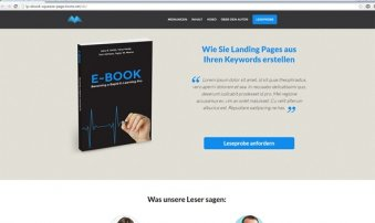 Musterwebseite-Landingpage-ebook