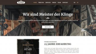 Webdesign-Muster | Barber-Shop