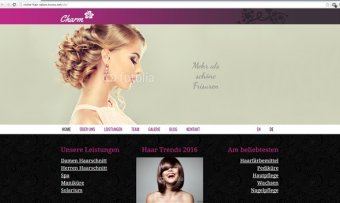 Webdesignmuster-Frisörsalon