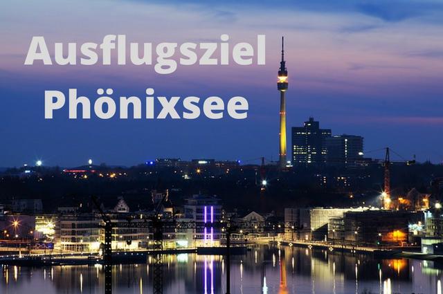 Phönixsee Dortmund bei Nacht
