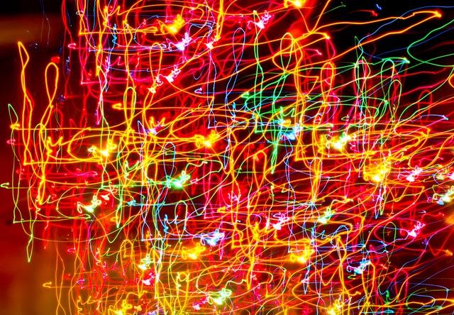abstrakt farbige elektronische Lichtblitze