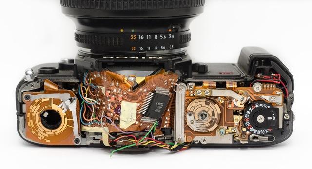 Elektroreparatur einer Fotokamera