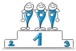 zusammen gewinnen durch Teambuilding