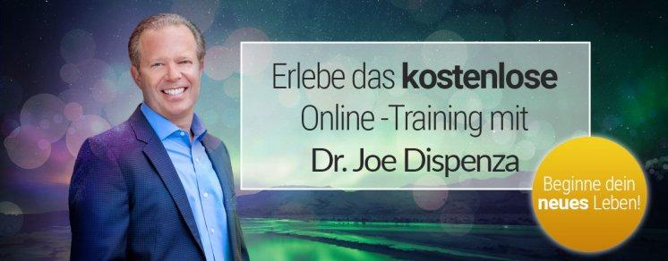 Kostenloses Onlinetraining mit Dr. Joe Dispenza, startet am 14.09.2019.