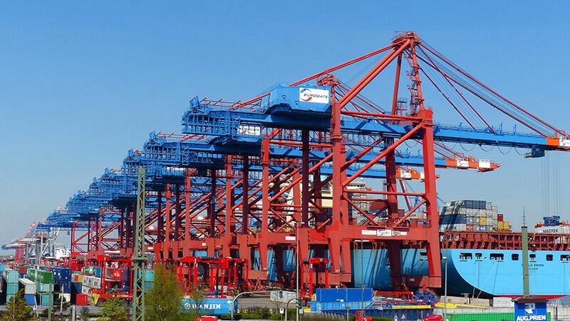 Hamburger Hafen Kräne