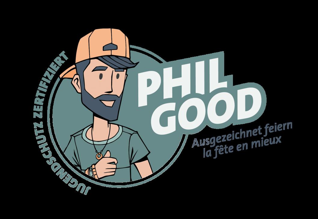 Das Label «Phil Good – ausgezeichnet feiern» ist ein Leistungsausweis für Veranstalter und Gastgewerbebetriebe im Kanton Bern, die sich aktiv und engagiert über die gesetzlichen Bestimmungen hinaus für den Jugendschutz einsetzen.