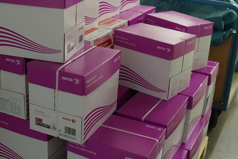 Kartons werden gehortet in Berlin