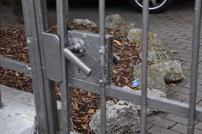 Gittertüre bei Kunde in Nürnberg