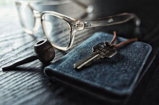 Schlüssel mit brille