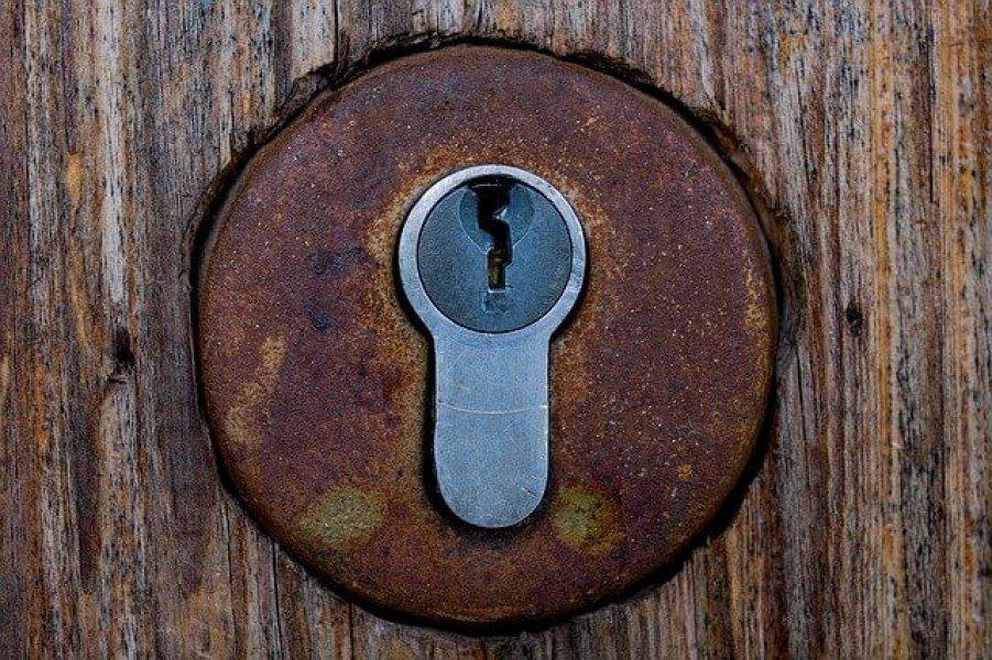 verrostetes Schlüsselloch