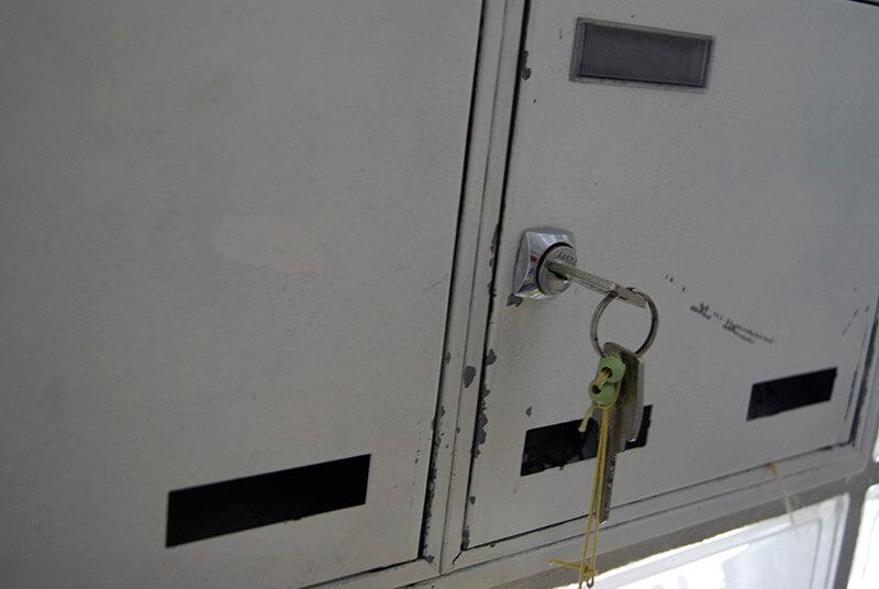 Ein Schlüssel steckt noch im Briefkasten