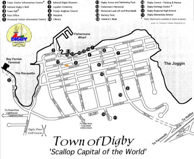 Digby Town Map