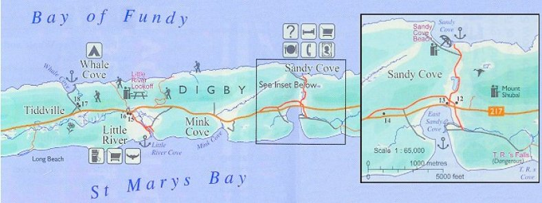 Digby Neck from Sandy Cove to Tiddville