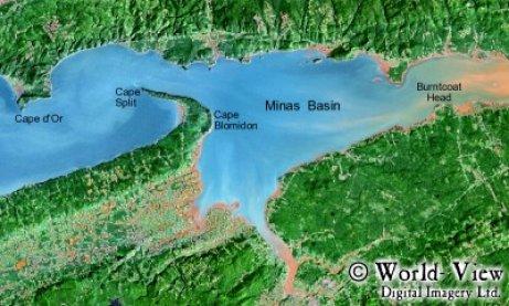 Minas Becken - Bay of Fundy - Nova Scotia