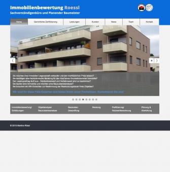 Screenshot Webseite Immobewertung Rössl