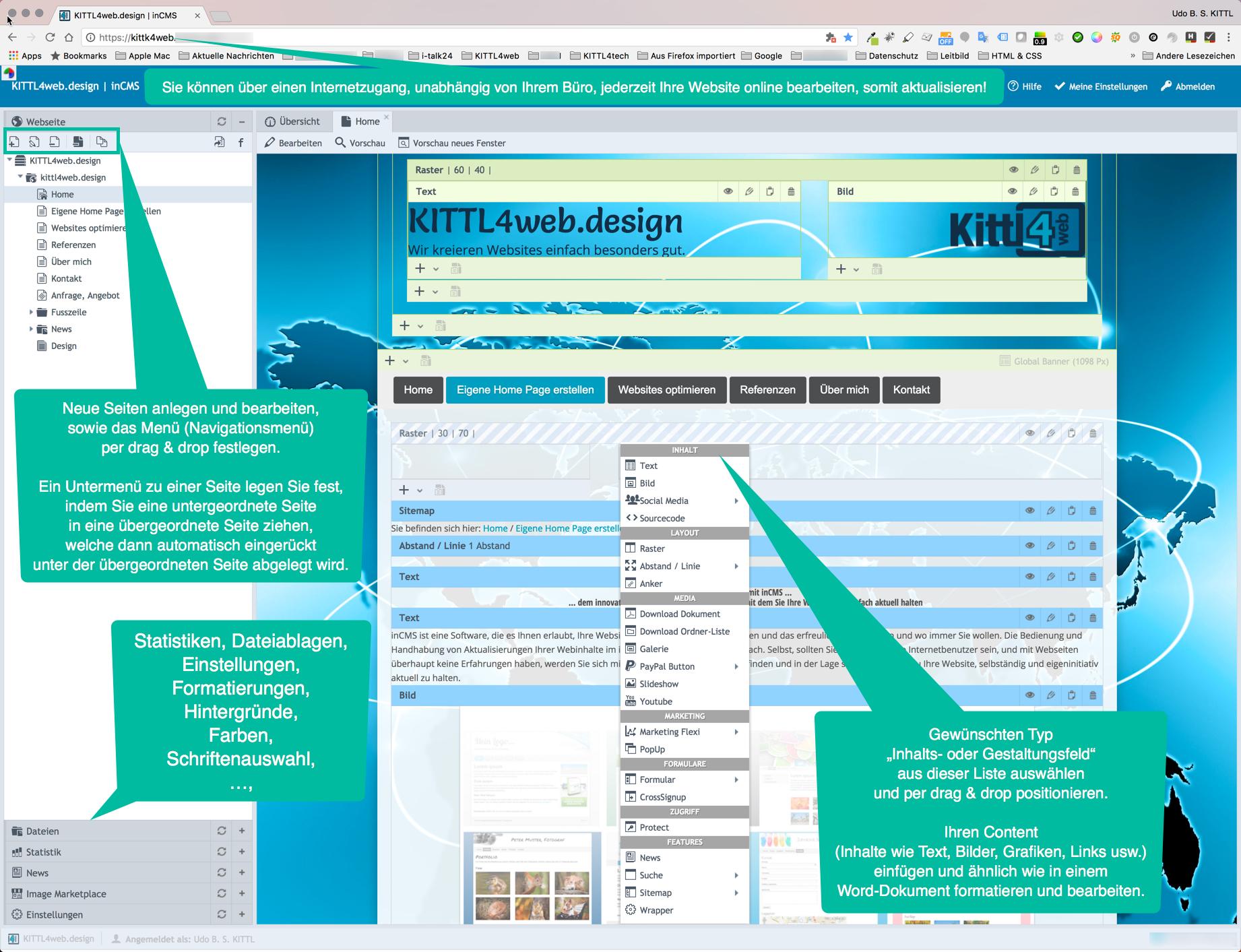 Musterbeispiele Webdesigns