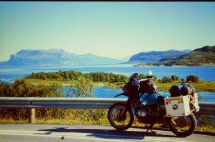 BMW R100 GS im Norden von Norwegen