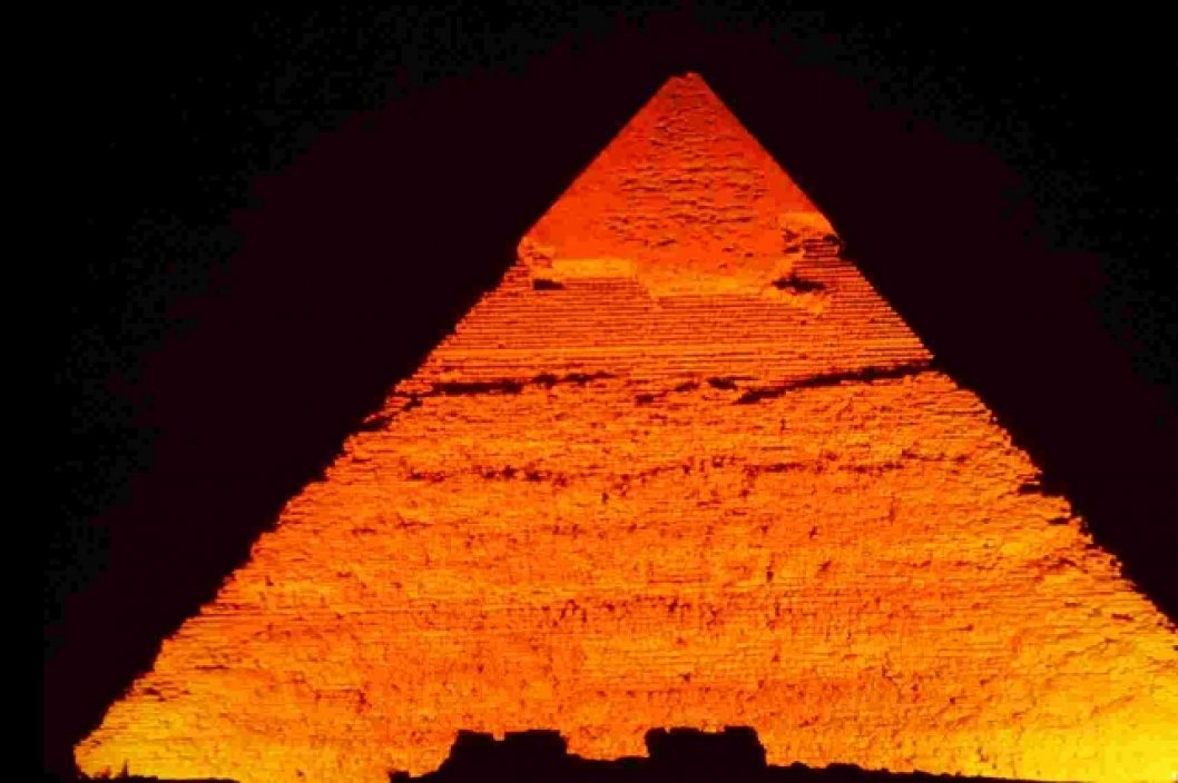 Pyramide in Gizeh am Abend