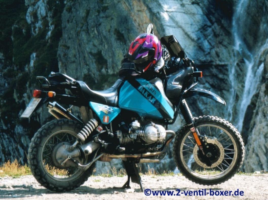 BMW R100 GS auf dem Weg zum Col de Sommeiller Der Col de Sommeiller ist ein Pass in den italienischen Alpen im Piemont. Er befindet sich im Mont-Cenis-Massiv auf der Grenze zwischen Frankreich und Italien in der Nähe des Mont-Cenis-Tunnels.